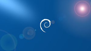 Debian blue with white logo 1920*1080.png by Ivanmladenovi