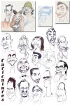 A page of caricatures by me by borogove13