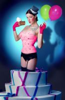 Pop-Up Cake Girl by parampam
