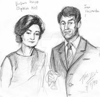 Barbara and Ian from Dr Who by StarbearerTM