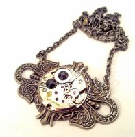 Steampunk Jewelry Necklace by SteamDesigns