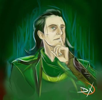 speed drawing Loki - tom hiddleston by Soliduskim