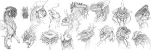 Dragons. by madclownjack
