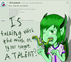 ASK ENVY! Answer #4 - Sexy Tongue Talent by SoUr-MaNtIs