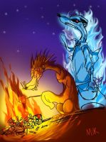 Warm fire Cold fire by mikmix