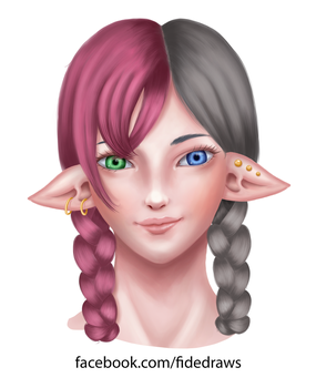 Practice - Elven girl by Architeuthis-Senpai