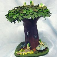Lighted Pixie Oak Tree house by CreativeCritters