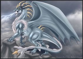 Thunder Dragon - Commission by DrakainaQueen