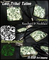 Lion Keychain and Necklace SOLD OUT by J-C
