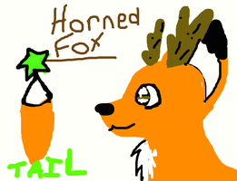 The horned fox by MysticDragowolf