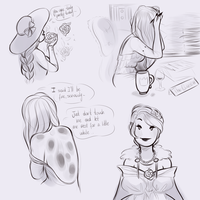 Sketch dump 4 - Routine by MaryLittleRose