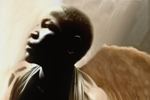 Haitian orphan child angel by madetobeunique