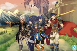 Fan Art - Super Smash Bros Fire Emblem by RedCaliburn