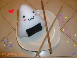 Onigiri Plushie by Padfooted-Beatle