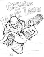 Creature from the Black Lagoon by AdamWithers