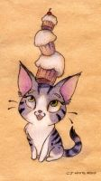 Cupcake Cat by pencil-cute