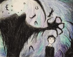 The Grim Reaper and The Nightmare Child Drawing by Kongzilla2010