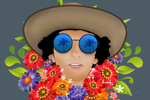 Self Portrait and Flowers by tootmic