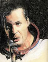 Till Lindemann in pastel by mad-and-loony