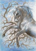 Blue Horse by KristiT