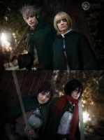 They're coming. Shingeki no Kyojin cosplay by Giuzzys