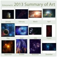 2013 Summary of Art by Esherymack