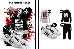 adidas brochure back ( RUN DMC adidas collection ) by AleksandarN