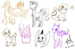 Request Sketches by MyuOneeChan