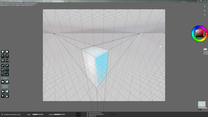 SpeedyPainter interface - perspective grid overlay by speedy-painter