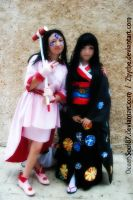 Skuld and Enma Ai Cosplay by Zhyrhe