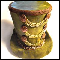 Green Envy St Patricks Top Hat by SteamSociety