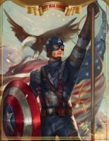 captain america happy JULY 4TH by jiuge