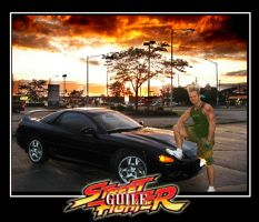 Guile with his 3000GT by DTokarz