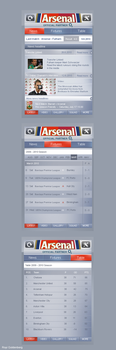 Arsenal app by RC-man-Design
