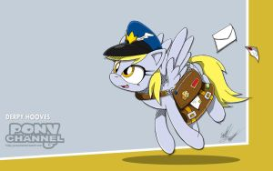 Channel Sketch: Derpy Hooves by Fuzon-S