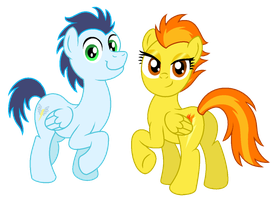 Soarin and Spitfire by AleximusPrime