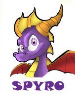 Spyro the Dragon by alorix