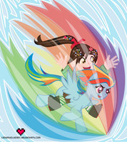 Vanellope and Rainbow Dash by ladypixelheart