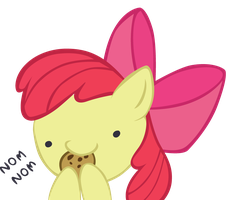 Applebloom - Nom Nom by Ocarina0fTimelord