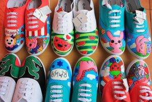 Painted shoes by karka17
