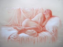 Nude with drapes by ddmizen