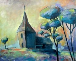 Church oil paint by Boias