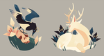 Magpie+Deer | wooden charms available for preorder by Munkell