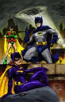 1966 Batman Trio IN COLOR by hoganvibe