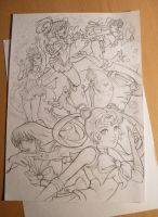 Sailor Moon sketch by FranciscoETCHART