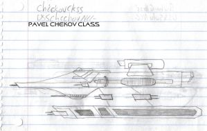 Pavel Chekov Class Paper Drawing by kaisernathan1701