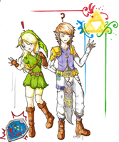 Lady Link And Prince Zelda by Forever-Nocturne