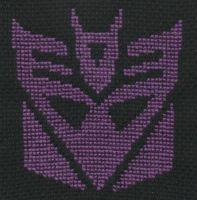 Decepticon Logo cross stitch by Lil-Samuu