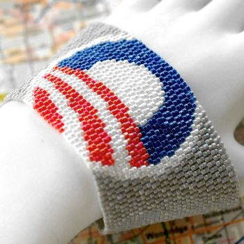 Obama - Beadwoven Peyote Cuff by time2cre8