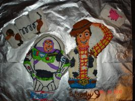 Buzz and Woody Birthday Cake by Trues-Downfall